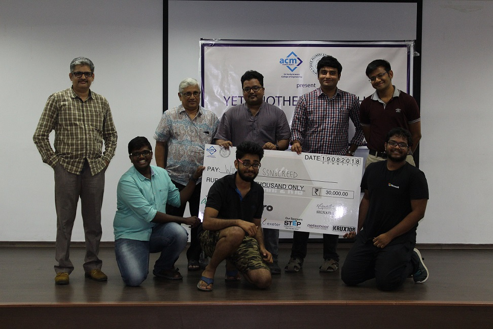 Hackathon Winners - SSNsCREED from SSN Engg. College