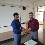 Memento Presented to Mr. R Ramkumar,  by HoD / Civil